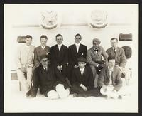 Unidentified group Portraits aboard the SS Manchuria, Taft trip, undated [circa 1905].