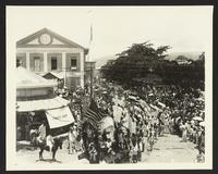 Native parade, Taft trip, (Philippines?), undated [circa 1905].