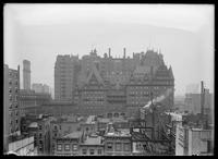 Rooftop view of the Waldorf-Astoria Hotel from W. 31st Street, New York City, 1905.