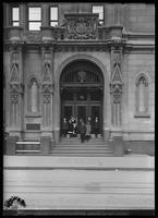 Entrance to the Trinity Building, New York City, 1913.