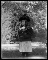 Unidentified little girl in Central Park, New York City, undated (ca. 1890-1900).