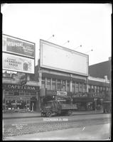 125th Street between Seventh Avenue and Lenox Avenue, New York City, December 21, 1926: Vitaphone's 'Don Juan' (partial), Ocean Spray Cranberry Sauce. Also storefronts of Ideal Shoe Shop, Toby's Men's Shop, Christensen School of Rag and Jazz, Orient Photo