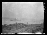 New York City: New York Central Railroad freight yard, West 60th Street, undated.