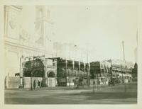 Brooklyn: Surf Avenue, Coney Island, January 1924. Double exposure with the entrance to Luna Park, Coney Island.
