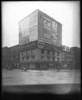 Seventh Avenue and 34th Street, New York City, circa 1919: C-N Disinfectant, Donovan's School for Dancing, Hotel & Caf Moretti, Zoolak, Lyric Theatre, New York Hippodrome, Chiclets, Bijou Theatre, Barclay's Scotch Oatmeal Stout, Plaza Music Hall. Also sto