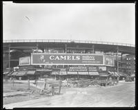 Eighth Avenue and Cathedral Parkway [i.e. 110th Street], New York City, August 29, 1928: Camel Cigarettes, Mavis Chocolate Drink, Wrigley's Double Mint Gum.