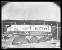 Eighth Avenue and Cathedral Parkway [i.e. 110th Street], New York City, January 29, 1929: Camel Cigarettes, Wrigley's Spearmint Gum. Also 1 empty billboard.