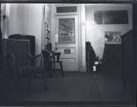 Brooklyn [?]: interior of Lenox Sport Shop, [767 Flatbush Avenue?], undated. Door with store name visible in reverse on glass.