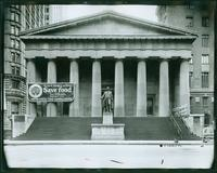 Federal Hall and Sub-Treasury Building, Wall Street, New York City, undated. (Roege 9314)