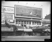 125th Street between Seventh Avenue and Lenox Avenue, New York City, April 27, 1926: Chesterfield Cigarettes, Old Dutch Cleanser, 'Night Cry' with Rin Tin Tin. Also storefronts of Ideal Shoe Shop, Toby's Men's Shop, Christensen School of Rag and Jazz, Ori