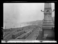 New York City: New York Central freight terminal at Riverside Drive, undated.