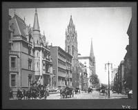 Fifth Avenue looking north from 52nd Street, New York City; copy negative after original photograph by A. Wittemann, 1890, copyright 1939.