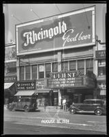 125th Street between Seventh Avenue and Lenox Avenue, New York City, July 31, 1934: Rheingold Beer. Also storefronts of Cameo Men's Shop, Orient Photo Plays.