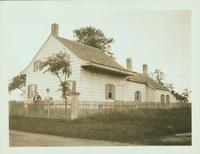 Gravesend: Bernardus Ryder / Elias Hubbard Ryder House, rear view, east side of Ryder Avenue (formerly Ryder's Lane) in the vicinity of E. 29 Street, 2 blocks north of Avenue S, 1922.