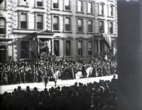 Head of the funeral procession for General William T. Sherman, New York City, February 1891. Taken from the window of the Wilson and Kellogg School, 622 Fifth Avenue.
