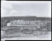 Eighth Avenue and Cathedral Parkway [i.e. 110th Street], New York City, September 26, 1928: Camel Cigarettes, Wrigley's Double Mint Gum. Also 1 empty billboard.