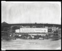 Eighth Avenue and Cathedral Parkway [i.e. 110th Street], New York City, April 28, 1927: Camel Cigarettes, New York Y.M.C.A.. Also 1 empty billboard.