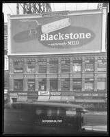 Broadway near 47th Street, New York City, October 28, 1927: Blackstone Cigars.