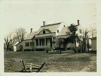 Flatlands: Hendrick I. Lott farmhouse on Baes Juriaen's Hook, easterly  side of Strom Kill, north view, 120 Kimball's Road  in line with E. 34th Street and Avenue Q, April 1923. [Note: farmhouse location is actually 1940 East 36th Street, south of Fillmor