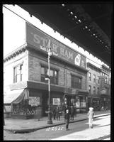 Third Avenue and East 166th Street, Bronx, New York City, December 28, 1925: Armour Star Ham. Also L. Oppenheimer, grocer.