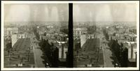 New York City: Panorama looking west along 24th Street from Seventh Avenue, undated. Stereograph.