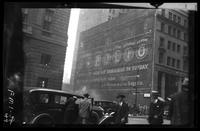 New York City:  Sapolio sign on the northwest corner of Broadway and Morris Street, undated.