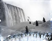 American Falls and ice mountain, Niagara Falls, N.Y., undated.
