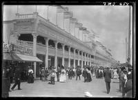 New York City: view of the boardwalk at Rockaway Beach, Queens, undated.