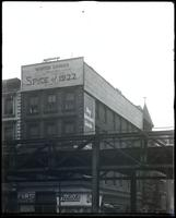Sixth Avenue and West 44th Street, New York City, 1921: Winter Garden Theatre, empty billboard.