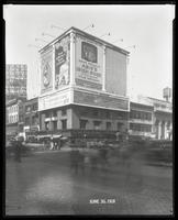Seventh Avenue and 34th Street, New York City, June 30, 1928: Brotherhood of Locomotive Engineers Cooperative Trust Company, Libby's Peaches, 'Abie's Irish Rose' (motion picture), Nassau County Lots (McGolrick Realty), O-Cedar Furniture Polish, Olympic Fu