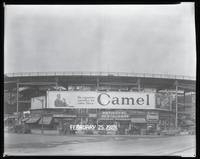 Eighth Avenue and Cathedral Parkway [i.e. 110th Street], New York City, February 25, 1929: Camel Cigarettes, Wrigley's Spearmint Gum. Also 1 empty billboard.