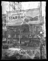 Broadway at West 47th Street, New York City, October 31, 1932: Armour Star Ham, Taystee Bread (partial).