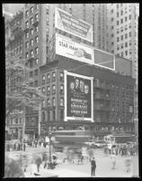 Fifth Avenue and 42nd Street, New York City, May 31, 1933: Armour Star Ham, Hotel George Washington, Bowery Savings Bank / Emigrant Industrial Savings Bank / Union Dime Savings Bank. Also 2 empty billboards