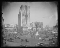 Columbus Circle, looking northwest from the southeast corner of Broadway at Eighth Avenue, 1921.