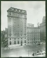 Claridge Hotel, east side of Broadway from 43rd Street to 44th Street, New York City, 1919.  (Boyette 9433)