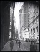 Wall Street between Hanover Street and William Street, New York City, 1935.