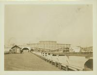 Gravesend: Coney Island Boardwalk, from the pier at W. 18 Street, 1924.