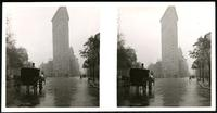 New York City: Flatiron Building, 23rd Street looking south, undated. Stereograph.