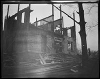 Flushing: Flushing Institute, Amity Street, between Main and Union Streets, in the process of being demolished, 1924.
