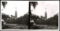 New York City: Belvedere Castle, Central Park, undated. Stereograph.