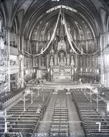 Interior of Notre Dame Church, Montreal, Canada, undated.
