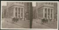 New York City: Knickerbocker Trust Company, northwest corner of 34th Street and Fifth Avenue, undated. Stereograph.