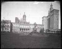 City Hall Park, New York City, circa 1930.