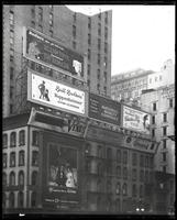 East 42nd Street and Fifth Avenue, New York City, 1921: Fatima Cigarettes, Venus Pencils, Dr. Lawton's Fat Reducer, Brill Brothers (Kuppenheimer), National Surety Company, Brusnwick Phonographs and Records, Charles Frey (hairdresser), Alton Beach Realty (