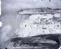 American Falls and Luna Island, Niagara Falls, N.Y., viewed from Goat Island, undated.