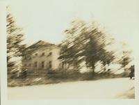 Flatlands:  northeast (rear) view of Cornelius Kouwenhoven House, east side of Kings Highway on line of Avenue P, about 300 feet south of Canarsie Lane, August 1924.