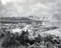 Horseshoe Falls and Terrapin Rocks, Niagara Falls, N.Y., viewed from Goat Island, undated.