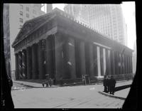 Federal Hall, Nassau Street from Pine Street to Wall Street, New York City, 1929.