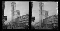New York City: 42nd Street looking west to the  New York Times Building, undated. Stereograph.