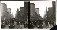 New York City: Fifth Avenue looking north fron 42nd Street, showing Temple Emanu-El at 43rd Street, undated. Stereograph.